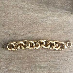J Crew Gold Cable Link Bracelet